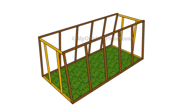 Building the frame of the greenhouse