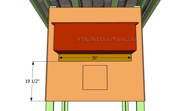 Fitting the nesting box
