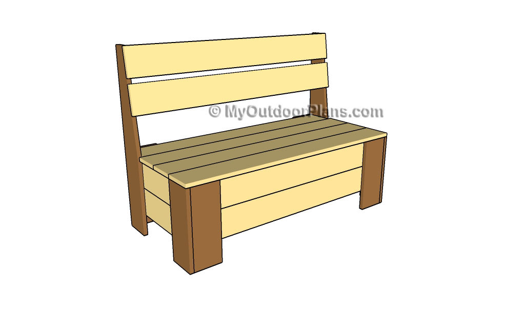 How to Build a Bench with Storage | Free Outdoor Plans - DIY Shed ...