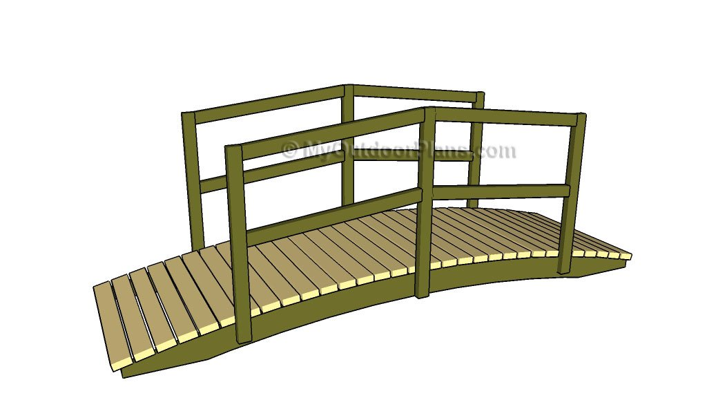 Garden bridge plans MyOutdoorPlans Free Woodworking Plans and