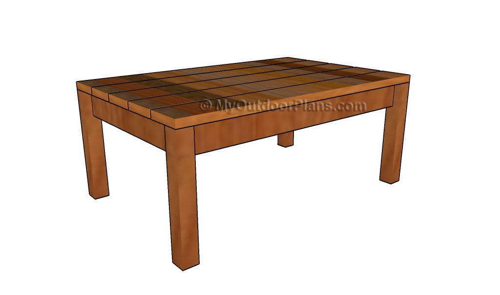 Outdoor Wood Coffee Table Plans