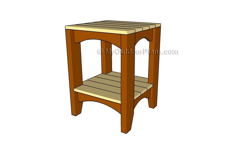 free outdoor end table plans | Quick Woodworking Projects