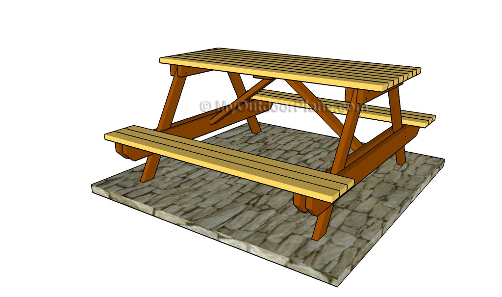 Free Picnic Table Plans | Free Outdoor Plans - DIY Shed, Wooden ...