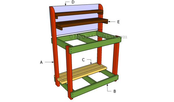 Building a potting bench