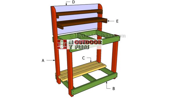 Building-a-potting-bench