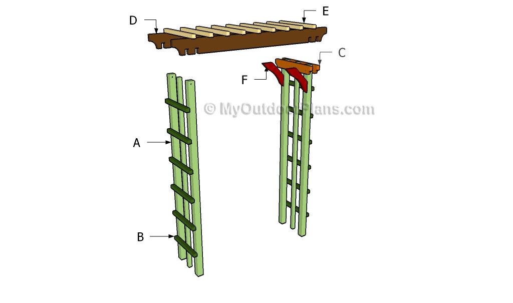 arbor plans myoutdoorplans free woodworking plans and arbor swing plans building 187 home design 2017