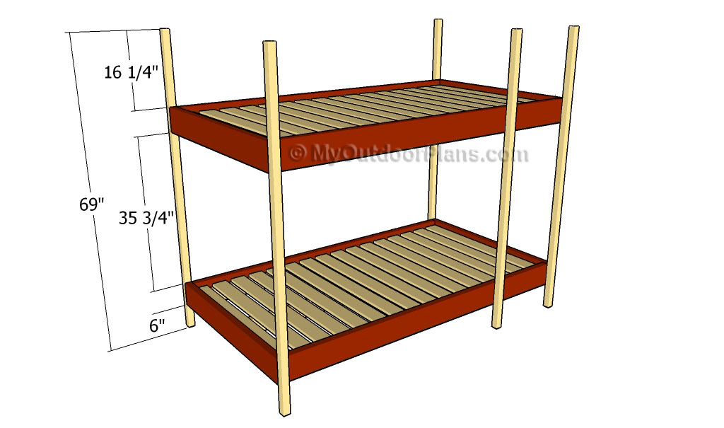 Permalink to free bunk bed plans twin over twin