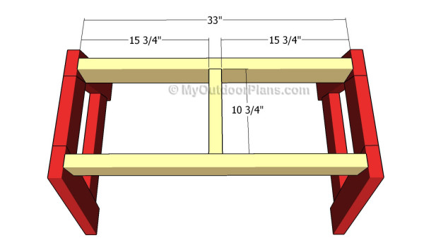 Fitting the stool frame