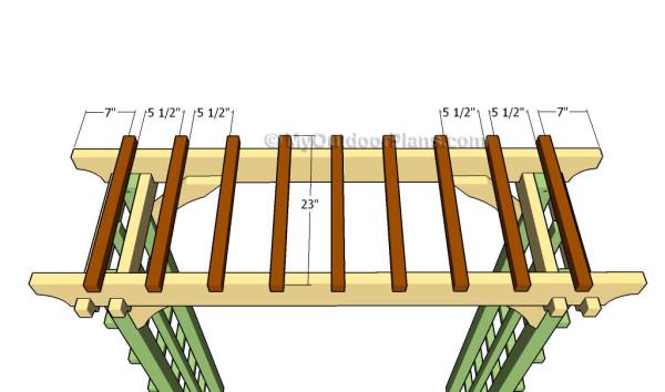 Fitting the top slats