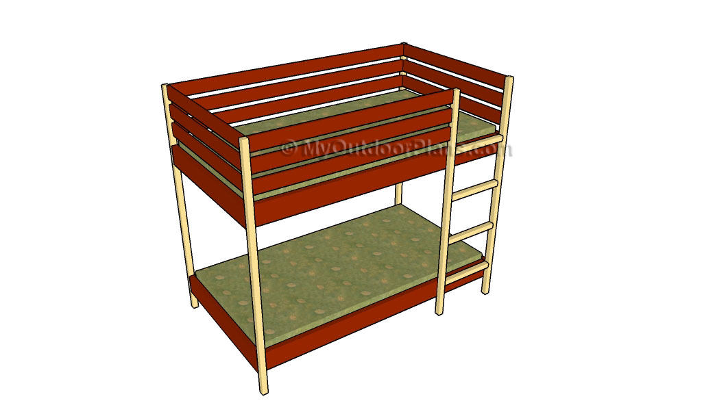 Free Wood Bunk Bed Plans 1024 x 605