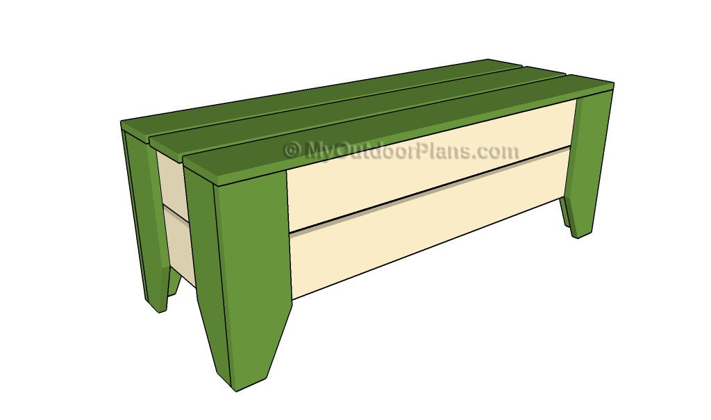 Permalink to outdoor bench seat plans free