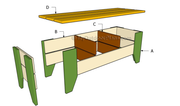 Garden bench building plans