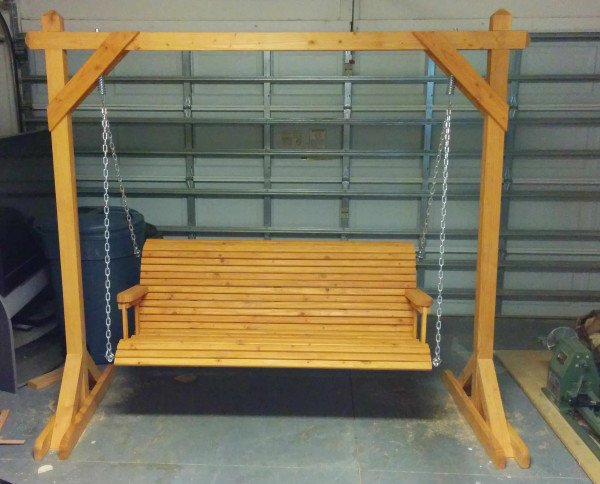 Build it yourself woodworking kit uk diy swing bench plans for Easy porch swing