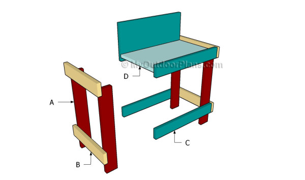 Building a kids bench