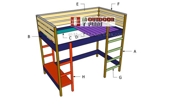 Building-a-loft-bed