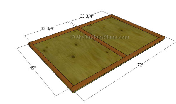Building the floor of the coop