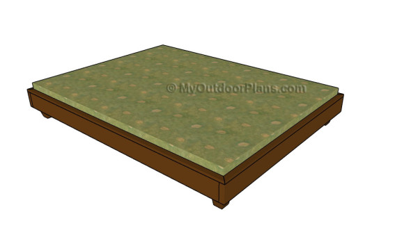 platform bed plans lowes storage full frame size