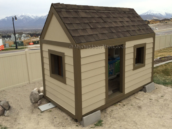 Diy kids playhouse myoutdoorplans free woodworking for Playhouse with porch plans