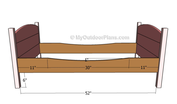 Building the frame of the bed