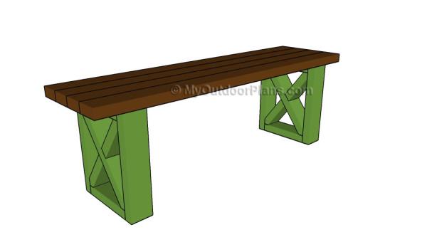 Diy bench plans