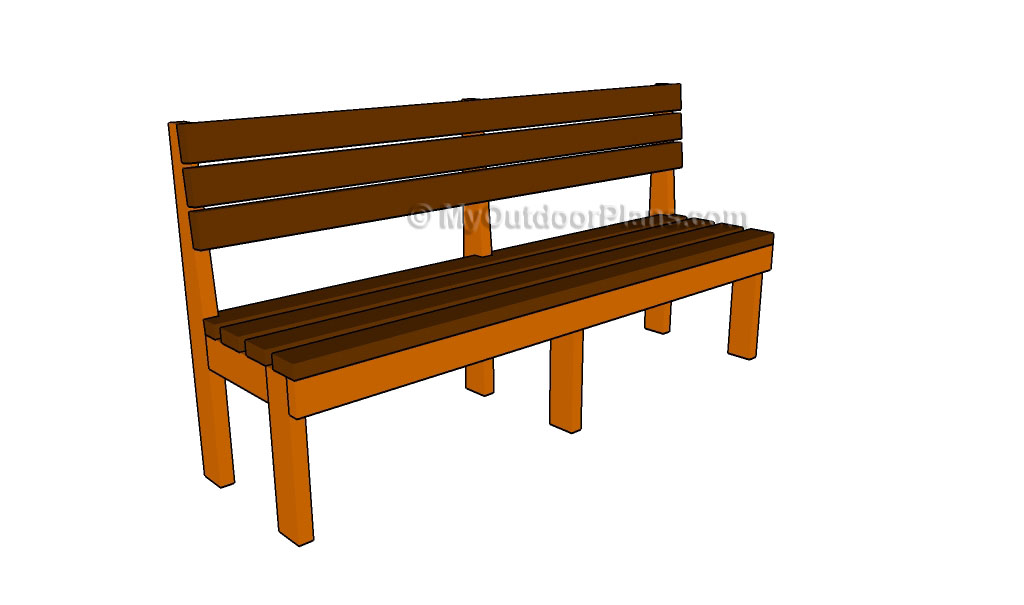 How to Build a Long Bench | Free Outdoor Plans - DIY Shed, Wooden ...