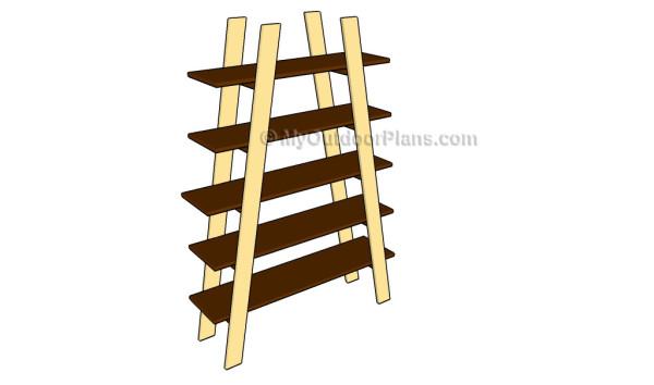Ladder shelves plans