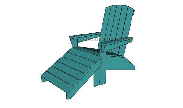 Adirondack footstool plans
