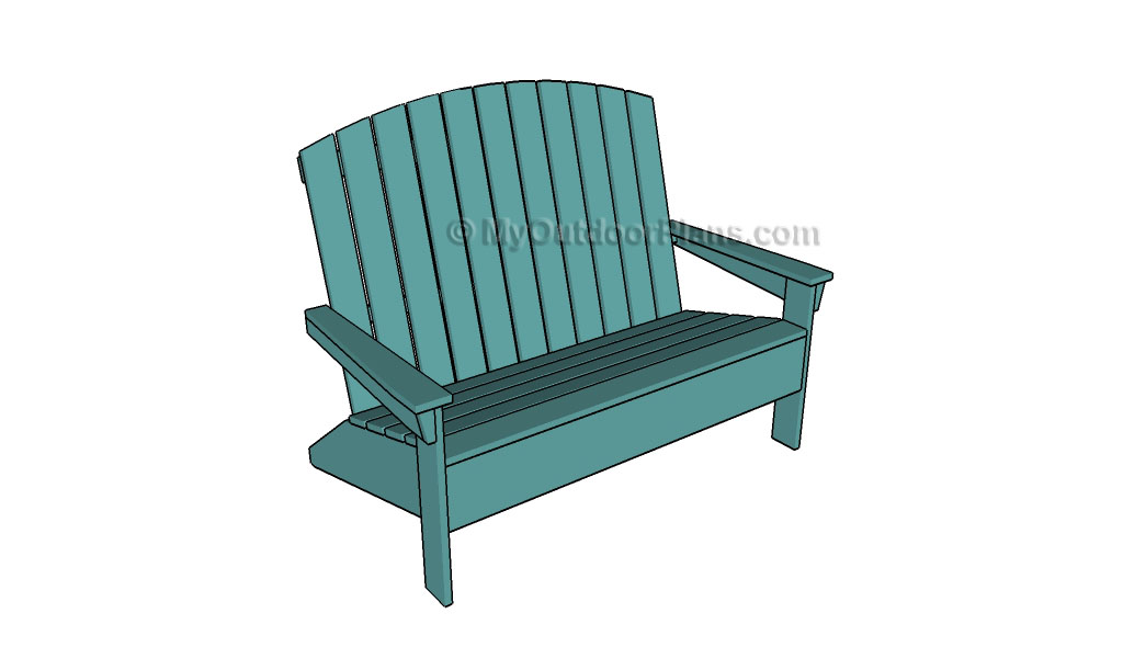 Guide To Get Free Woodworking Plans Adirondack Loveseat Project Me