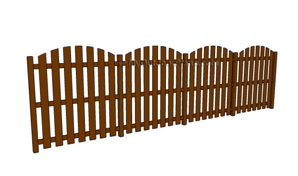 Arched fence