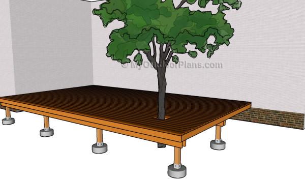 Building a deck around a tree