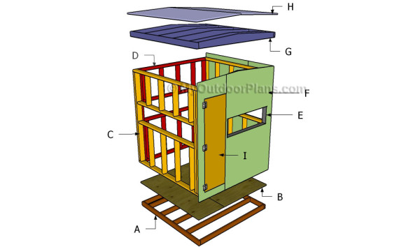 Deer blind plans myoutdoorplans free woodworking plans for Building deer blind windows
