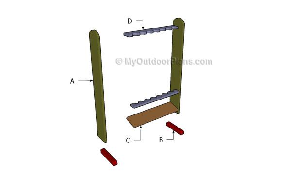 Fishing Rod Rack Plans Myoutdoorplans Free Woodworking