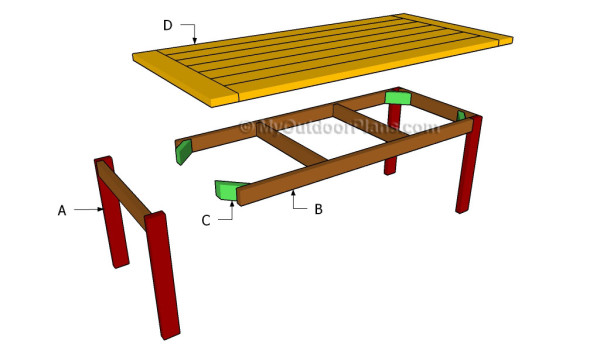 Kitchen Table Plans | MyOutdoorPlans | Free Woodworking Plans and ...