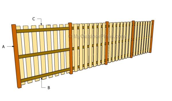 Wood Fence Plans Myoutdoorplans Free Woodworking Plans