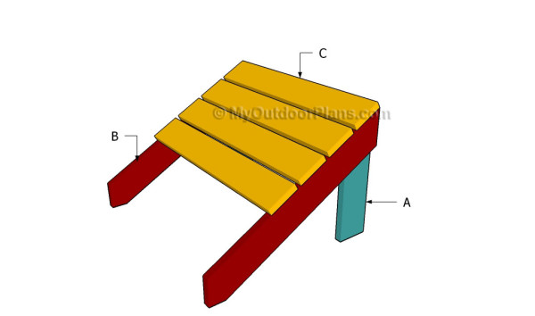 Building an adirondack footstool