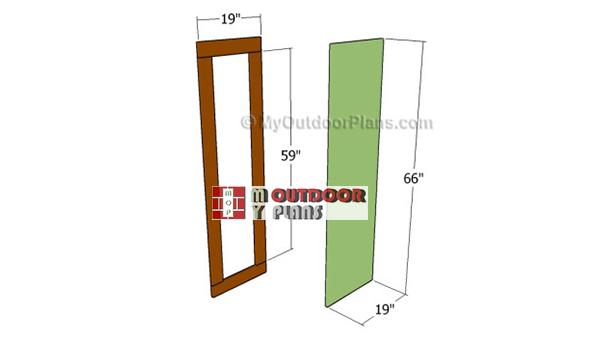 Building-the-door-for-deer-stand