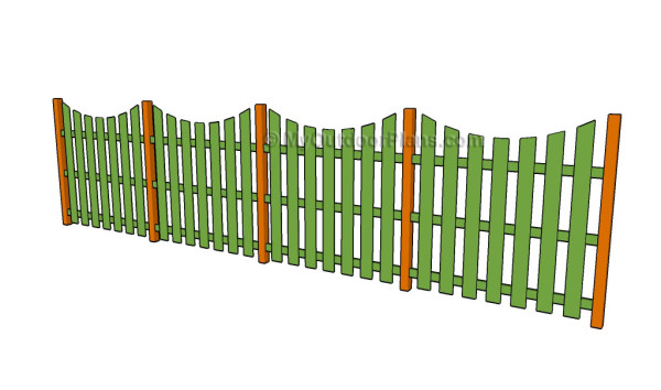 Concave fence