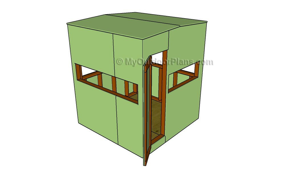 Deer box stand plans myoutdoorplans free woodworking for Diy deer stand plans
