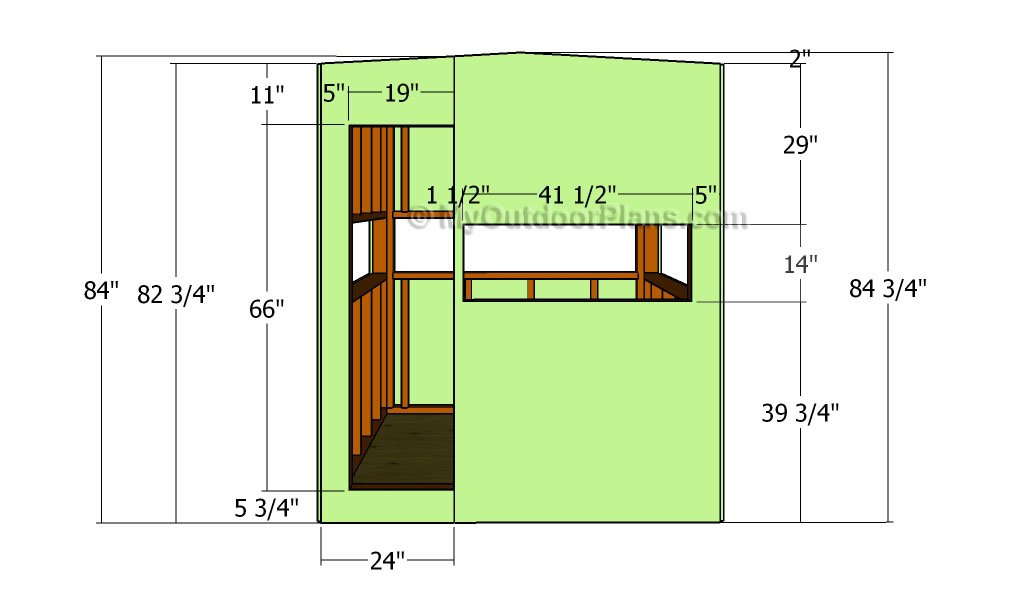 Deer Blind Plans | Free Outdoor Plans - DIY Shed, Wooden Playhouse ...