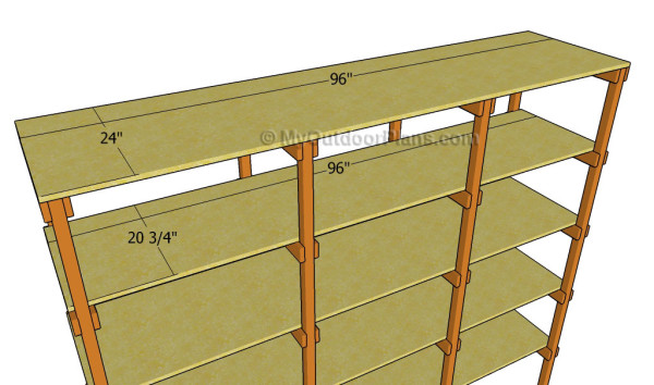 Fitting the plywood shelves