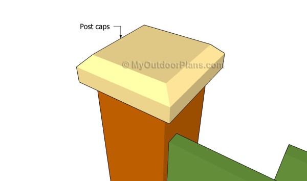 Fitting the post caps