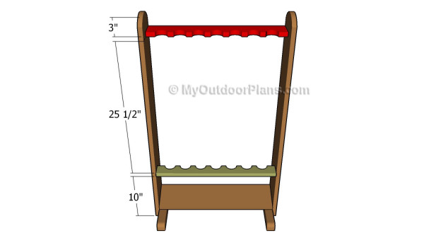 Fishing Rod Rack Plans Myoutdoorplans Free Woodworking Plans And Projects Diy Shed Wooden Playhouse Pergola Bbq