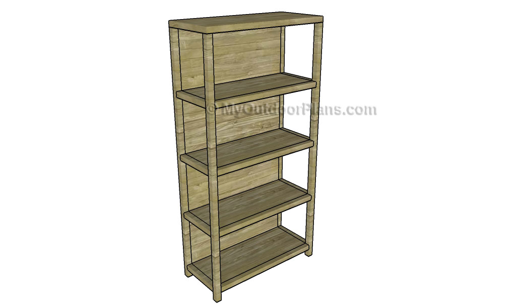 Simple Bookcase Plans | Free Outdoor Plans - DIY Shed ...