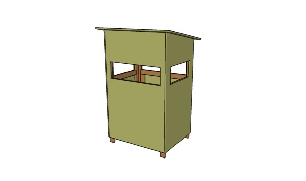 Free deer stand plans myoutdoorplans free woodworking for Diy deer stand plans