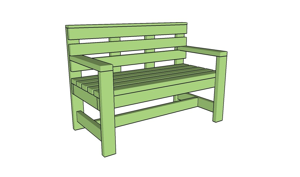 Free outdoor bench plans