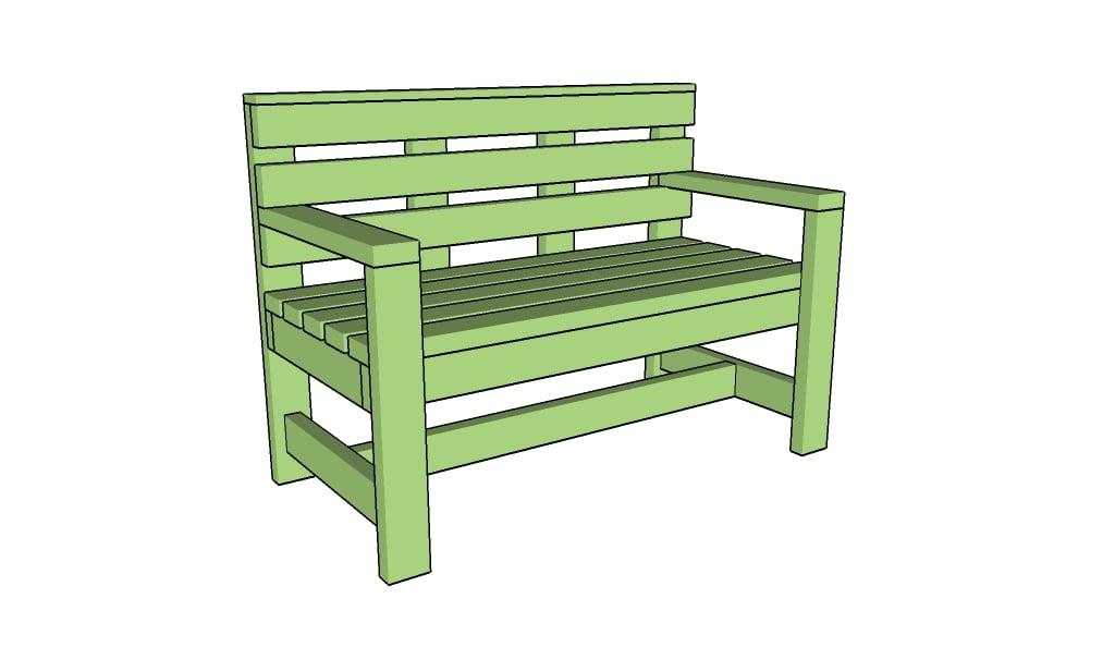 free outdoor garden bench plans diy woodworking