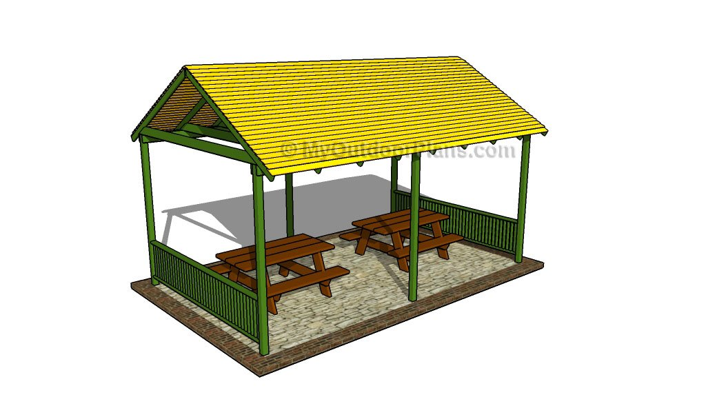 How to build a picnic shelter free outdoor plans diy Shelter house plans