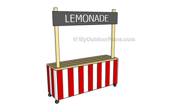 How to make a lemonade stand myoutdoorplans free for How to build a lemonade stand on wheels