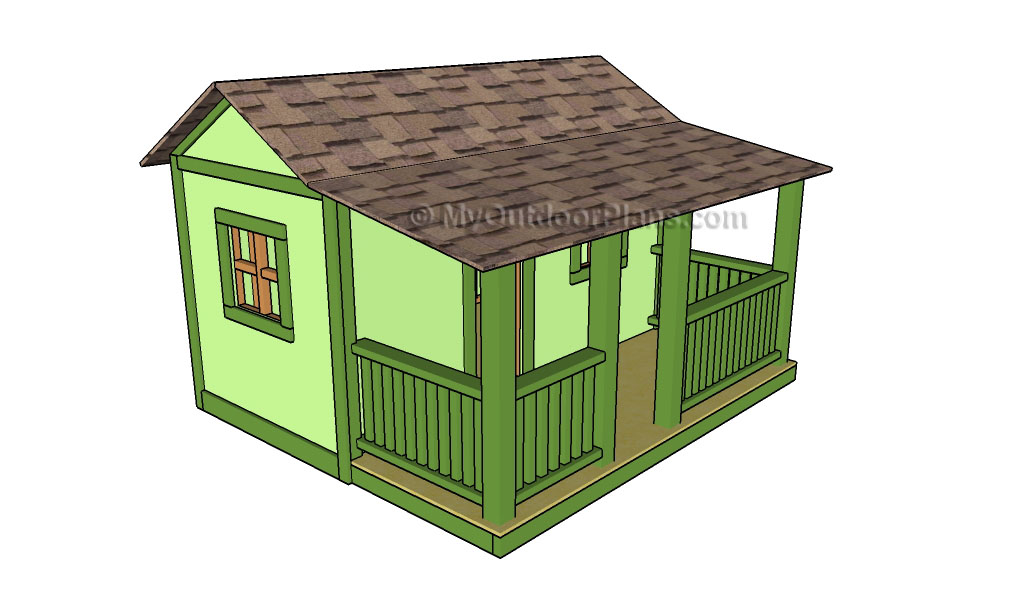 Outdoor playhouse plans myoutdoorplans free for Plans for childrens playhouse