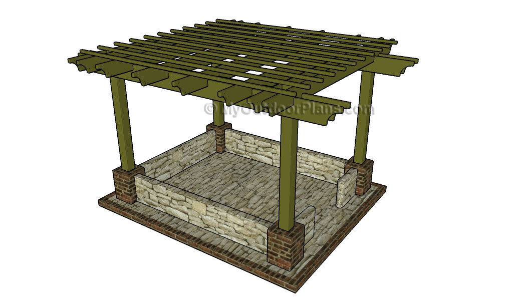 attached pergola plans myoutdoorplans free woodworking plans and projects diy shed wooden. Black Bedroom Furniture Sets. Home Design Ideas